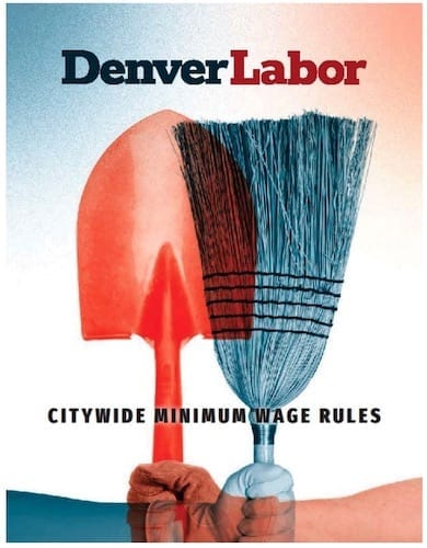 denver labor citywide minimum wage rules poster